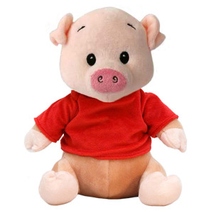 "10"" Plush Pig With Customizable T-Shirt By Giftable World®"