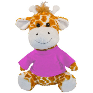 "10"" Plush Giraffe With Customizable T-Shirt By Giftable World®"