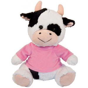 "10"" Plush Cow With Customizable T-Shirt By Giftable World®"