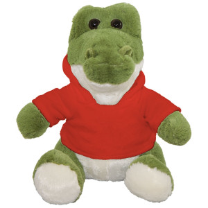 "10"" Plush Crocodile With Customizable Hoodie By Giftable World®"