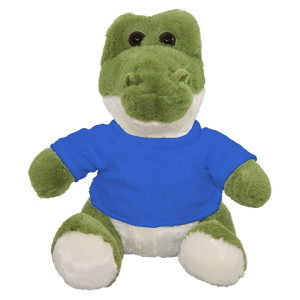 "10"" Plush Crocodile With Customizable T-Shirt By Giftable World®"