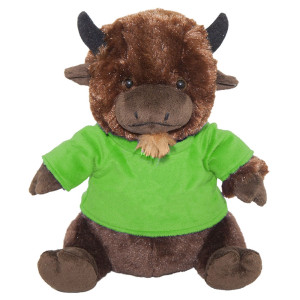 "10"" Plush American Buffalo With Customizable T-Shirt By Giftable World®"
