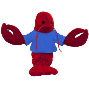 "10"" Plush Lobster With Customizable T-Shirt By Giftable World®"