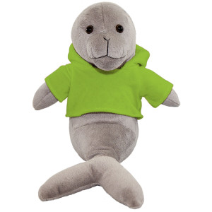 "10"" Plush Seal With Customizable Hoodie By Giftable World®"