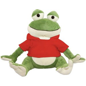 "10"" Plush Frog With Customizable Hoodie By Giftable World®"