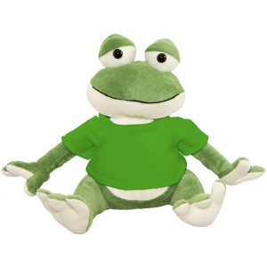 "10"" Plush Frog With Customizable T-Shirt By Giftable World®"