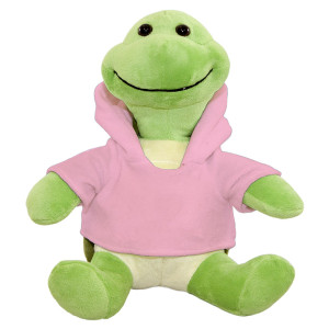 "10"" Plush Turtle With Customizable Hoodie By Giftable World®"