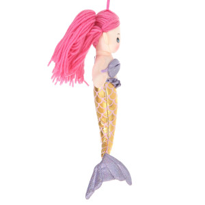12'' Plush Pink-Haired Mermaid Doll By Giftable World®