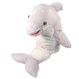 "10"" Plush Dolphin Hand Puppet By Giftable World®"