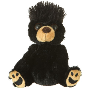 "7"" Plush Mop Tops Black Bear By Giftable World®"
