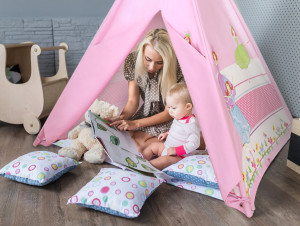 Life style Ballerina Teepee With 4 Poles Made Of 100% Cotton By Giftable World®