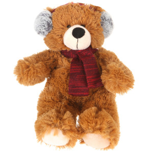 "10"" Plush Brown Bear With Earmuffs By Giftable World®"
