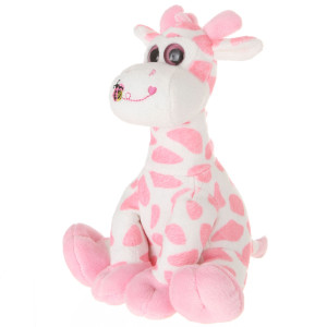 "9"" 2 Assorted Plush Giraffes With Rattles By Giftable World®"
