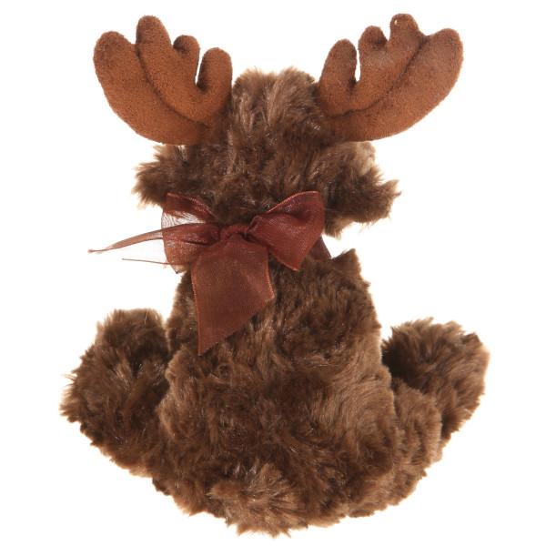"""9"""" Plush Moose With Ribbon By Giftable World®"""