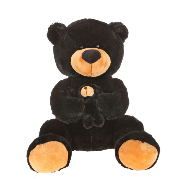 16'' Plush Black Bear With Baby By Giftable World®