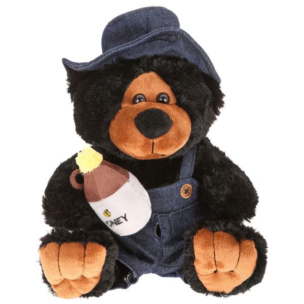 "10"" Plush Hillbilly Honey Black Bear By Giftable World®"