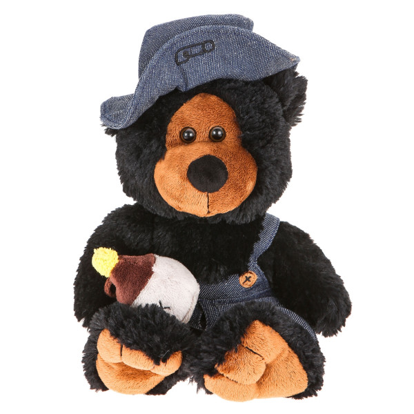 "10"" Plush Hillbilly Jar Black Bear By Giftable World®"