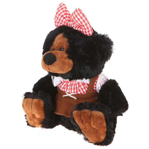 """10"""" Plush Hillbilly Girl Black Bear By Giftable World®"""