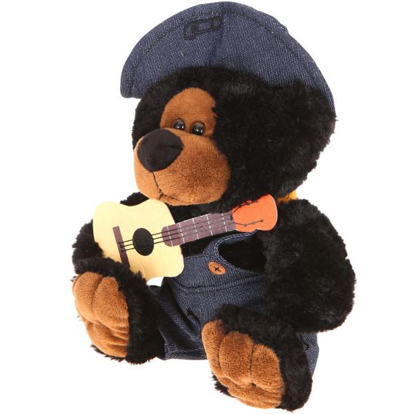 "10"" Plush Hillbilly Guitar Black Bear By Giftable World®"