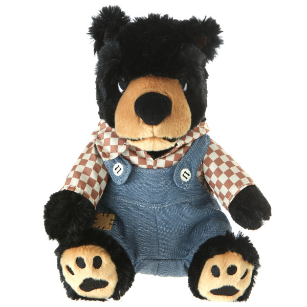 "10"" Plush Country Black Bear By Giftable World®"