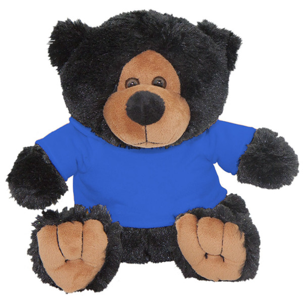 "10"" Plush Black Bear 2 With Customizable Hoodie By Giftable World®"