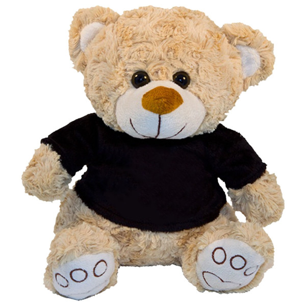 """10"""" Plush Beige Bear With Customizable T-shirt By Giftable World®"""