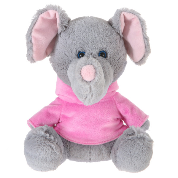 "10"" Plush Elephant With Customizable Hoodie By Giftable World®"